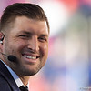 Tim Tebow during pregame as the University of Florida Gators hold on to win 24-20 over the University of Miami Hurricanes at Camping World Stadium in Orlando, Florida.  August 23rd, 2019. Gator Country Photo by David Bowie.
