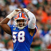 Florida Gators linebacker Jonathan Greenard (58) as the University of Florida Gators hold on to win 24-20 over the University of Miami Hurricanes at Camping World Stadium in Orlando, Florida.  August 23rd, 2019. Gator Country Photo by David Bowie.