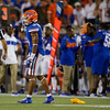 Florida Gators defensive back Marco Wilson (3) after a pass interference call as the University of Florida Gators hold on to win 24-20 over the University of Miami Hurricanes at Camping World Stadium in Orlando, Florida.  August 23rd, 2019. Gator Country Photo by David Bowie.