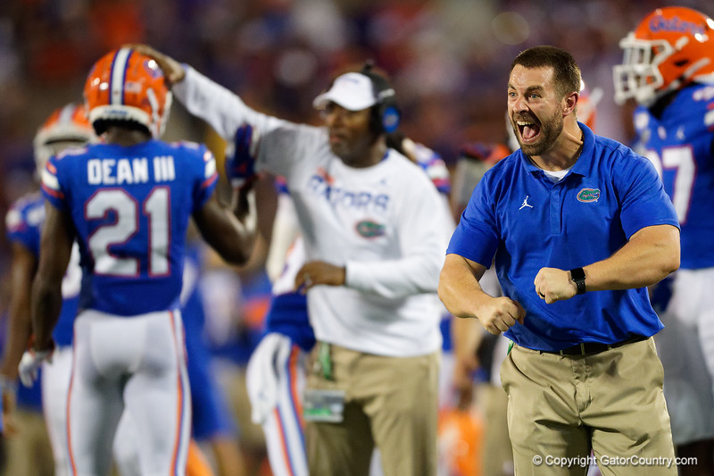 Florida Gators head of strength and conditioning Nick Savage as the University of Florida Gators hold on to win 24-20 over the University of Miami Hurricanes at Camping World Stadium in Orlando, Florida.  August 23rd, 2019. Gator Country Photo by David Bowie.