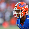 Florida Gators defensive back CJ Henderson (1) as the University of Florida Gators hold on to win 24-20 over the University of Miami Hurricanes at Camping World Stadium in Orlando, Florida.  August 23rd, 2019. Gator Country Photo by David Bowie.