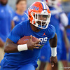 Florida Gators wide receiver Rick Wells (83) during pregame as the University of Florida Gators hold on to win 24-20 over the University of Miami Hurricanes at Camping World Stadium in Orlando, Florida.  August 23rd, 2019. Gator Country Photo by David Bowie.