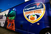 The Florida Gators arrive at Hark Rock Stadium as they prepare to take on the Virginia Cavaliers in the 2019 Capital One Orange Bowl in Miami Gardens, Florida.  December 30th, 2019. Gator Country Photo by David Bowie.