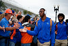 Florida Gators tight end Kyle Pitts (84) as the #6 Florida Gators walk into TIAA Bank Field as they prepare to take on the #8 Georgia Bulldogs at in Jacksonville, Florida.  November 2nd, 2019. Gator Country Photo by David Bowie.