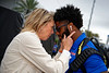 Megan Mullen and Florida Gators running back Lamical Perine (2) as the #6 Florida Gators walk into TIAA Bank Field as they prepare to take on the #8 Georgia Bulldogs at in Jacksonville, Florida.  November 2nd, 2019. Gator Country Photo by David Bowie.