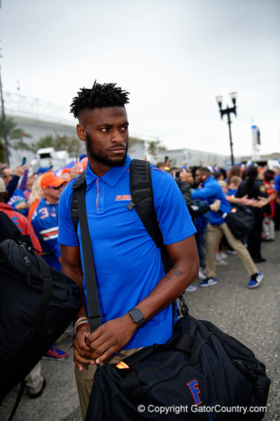 Florida Gators wide receiver Van Jefferson (12) as the #6 Florida Gators walk into TIAA Bank Field as they prepare to take on the #8 Georgia Bulldogs at in Jacksonville, Florida.  November 2nd, 2019. Gator Country Photo by David Bowie.