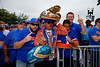 Gators fans cheer on as the #6 Florida Gators walk into TIAA Bank Field as they prepare to take on the #8 Georgia Bulldogs at in Jacksonville, Florida.  November 2nd, 2019. Gator Country Photo by David Bowie.