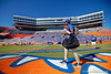 The Florida Gators march into the stadium during Gator Walk as the Gators prepare to face the Vanderbilt Commodores at Ben Hill Griffin Stadium in Gainesville, Florida.  November 9th, 2019. Gator Country Photo by David Bowie.
