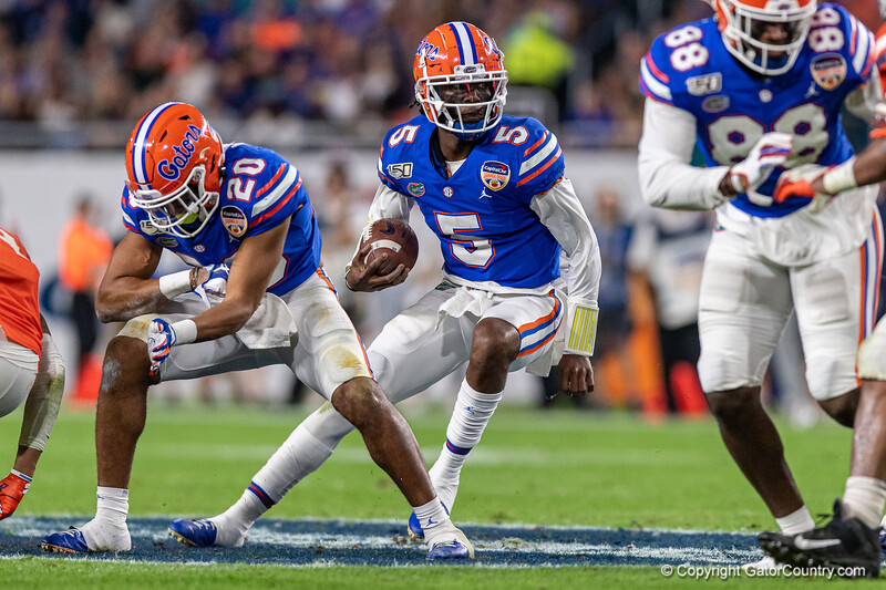 Photos from the first half as the Florida Gators take on the Virginia Cavaliers in the 2019 Capital One Orange Bowl in Miami Gardens, Florida.  December 30th, 2019. Gator Country Photo by David Bowie.
