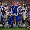 Photos from the first half as the Florida Gators faced the Florida State Seminoles at Ben Hill Griffin Stadium in Gainesville, Florida.  November 30th, 2019. Gator Country Photo by David Bowie.