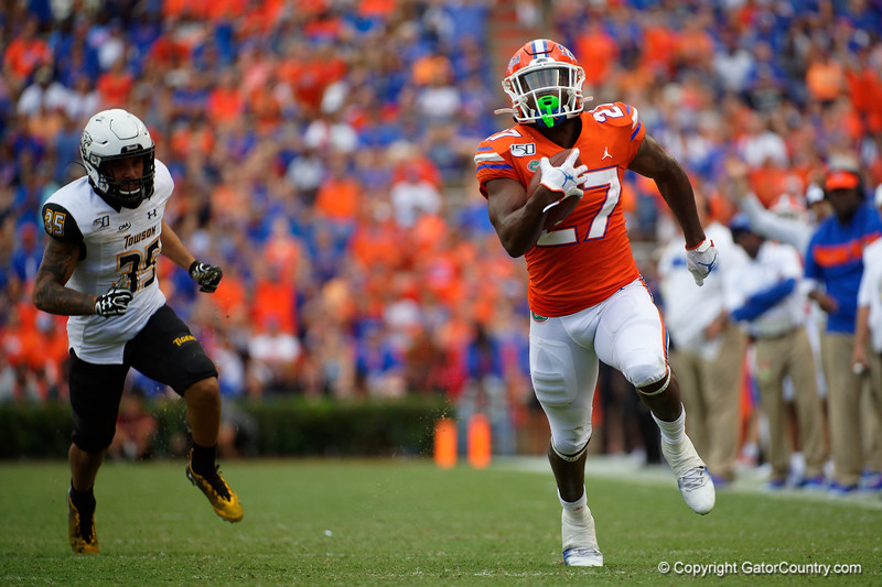 Photos from the second half as the Gators faced the Towson Tigers at Ben Hill Griffin Stadium in Gainesville, Florida.  September 28th, 2019. Gator Country Photo by David Bowie.
