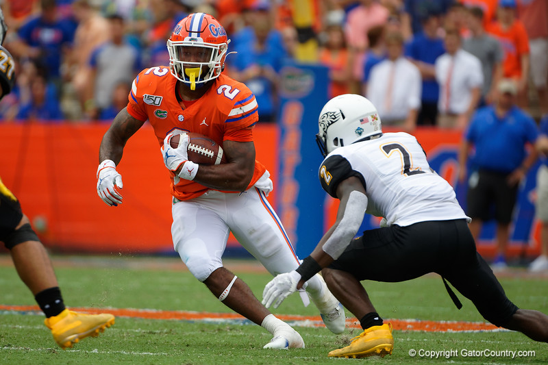 Photos from the first half as the Gators faced the Towson Tigers at Ben Hill Griffin Stadium in Gainesville, Florida.  September 28th, 2019. Gator Country Photo by David Bowie.
