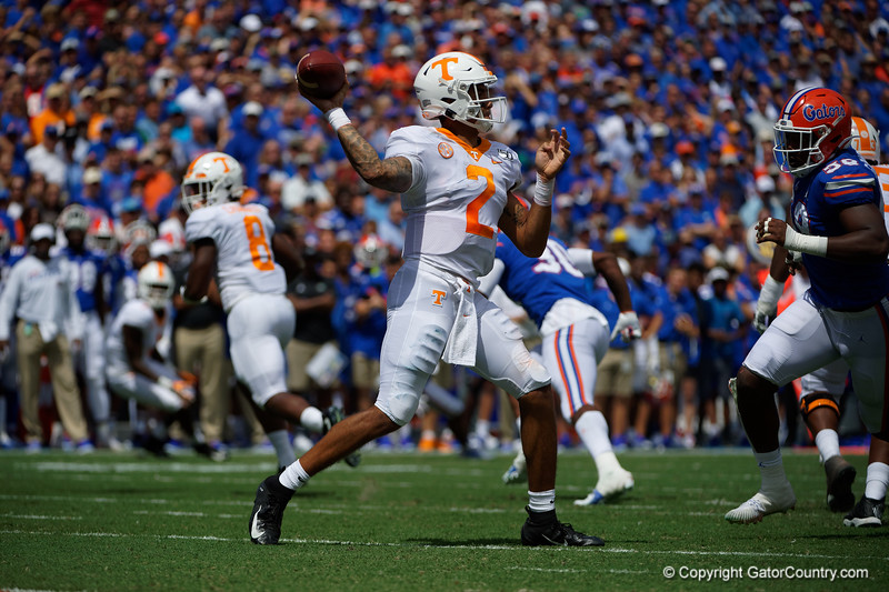 Photos from the first half as the Gators faced the University of Tennessee Volunteers at Ben Hill Griffin Stadium in Gainesville, Florida.  September 21st, 2019. Gator Country Photo by David Bowie.