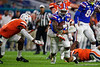 Florida Gators running back Dameon Pierce (27) rushing as the Florida Gators take on the Virginia Cavaliers in the 2019 Capital One Orange Bowl in Miami Gardens, Florida.  December 30th, 2019. Gator Country Photo by David Bowie.