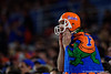 A Gators fan cheers on his team as the Florida Gators take on the Virginia Cavaliers in the 2019 Capital One Orange Bowl in Miami Gardens, Florida.  December 30th, 2019. Gator Country Photo by David Bowie.