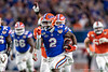 Florida Gators running back Lamical Perine (2) rushes into the endzone to put the Gators up 6-0 as the Florida Gators take on the Virginia Cavaliers in the 2019 Capital One Orange Bowl in Miami Gardens, Florida.  December 30th, 2019. Gator Country Photo by David Bowie.