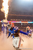 Florida Gators defensive back Trey Dean III (21) as the Florida Gators run onto the field prior to kickoff in the 2019 Capital One Orange Bowl in Miami Gardens, Florida.  December 30th, 2019. Gator Country Photo by David Bowie.