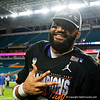 Florida Gators defensive back Jeawon Taylor (29) as the Florida Gators celebrate after defeating the Virginia Cavaliers 36-28 in the 2019 Capital One Orange Bowl in Miami Gardens, Florida.  December 30th, 2019. Gator Country Photo by David Bowie.
