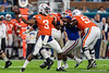 Virginia Cavaliers quarterback Bryce Perkins (3) throwing as the Florida Gators take on the Virginia Cavaliers in the 2019 Capital One Orange Bowl in Miami Gardens, Florida.  December 30th, 2019. Gator Country Photo by David Bowie.