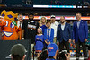 Florida Gators running back Lamical Perine (2),Florida Gators head coach Dan Mullen and Scott Striklin as the Florida Gators celebrate after defeating the Virginia Cavaliers 36-28 in the 2019 Capital One Orange Bowl in Miami Gardens, Florida.  December 30th, 2019. Gator Country Photo by David Bowie.