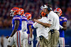 Florida Gators head coach Dan Mullen as the Florida Gators take on the Virginia Cavaliers in the 2019 Capital One Orange Bowl in Miami Gardens, Florida.  December 30th, 2019. Gator Country Photo by David Bowie.