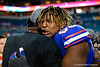 Florida Gators defensive lineman Adam Shuler (88) as the Florida Gators celebrate after defeating the Virginia Cavaliers 36-28 in the 2019 Capital One Orange Bowl in Miami Gardens, Florida.  December 30th, 2019. Gator Country Photo by David Bowie.