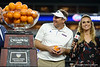 Florida Gators head coach Dan Mullen as the Florida Gators celebrate after defeating the Virginia Cavaliers 36-28 in the 2019 Capital One Orange Bowl in Miami Gardens, Florida.  December 30th, 2019. Gator Country Photo by David Bowie.