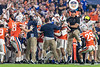 The Virginia Cavaliers celebrate after an interception as the Florida Gators take on the Virginia Cavaliers in the 2019 Capital One Orange Bowl in Miami Gardens, Florida.  December 30th, 2019. Gator Country Photo by David Bowie.