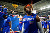 Florida Gators linebacker James Houston IV (41) during pregame as the Florida Gators prepare to take on the Virginia Cavaliers in the 2019 Capital One Orange Bowl in Miami Gardens, Florida.  December 30th, 2019. Gator Country Photo by David Bowie.