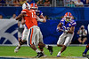 Florida Gators running back Malik Davis (20) rushing as the Florida Gators take on the Virginia Cavaliers in the 2019 Capital One Orange Bowl in Miami Gardens, Florida.  December 30th, 2019. Gator Country Photo by David Bowie.