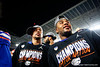 Florida Gators wide receiver Freddie Swain (16) and Florida Gators linebacker David Reese II (33) as the Florida Gators celebrate after defeating the Virginia Cavaliers 36-28 in the 2019 Capital One Orange Bowl in Miami Gardens, Florida.  December 30th, 2019. Gator Country Photo by David Bowie.