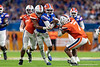 Florida Gators quarterback Emory Jones (5) scrambles downfield as the Florida Gators take on the Virginia Cavaliers in the 2019 Capital One Orange Bowl in Miami Gardens, Florida.  December 30th, 2019. Gator Country Photo by David Bowie.