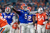 Florida Gators defensive back Kaiir Elam (5) celebrates after breaking up a reception as the Florida Gators take on the Virginia Cavaliers in the 2019 Capital One Orange Bowl in Miami Gardens, Florida.  December 30th, 2019. Gator Country Photo by David Bowie.