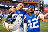 Florida Gators wide receiver Freddie Swain (16) and Florida Gators wide receiver Jaylin Jackson (42) celebrate as the Gators defeat the #5 Auburn Tigers 24-13 at Ben Hill Griffin Stadium in Gainesville, Florida on October 5th, 2019 (Photo by David Bowie/Gatorcountry)