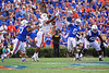 Florida Gators quarterback Emory Jones (5) throwing as the Gators defeat the #5 Auburn Tigers 24-13 at Ben Hill Griffin Stadium in Gainesville, Florida on October 5th, 2019 (Photo by David Bowie/Gatorcountry)