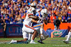 Florida Gators wide receiver Freddie Swain (16) makes a catch as the Gators defeat the #5 Auburn Tigers 24-13 at Ben Hill Griffin Stadium in Gainesville, Florida on October 5th, 2019 (Photo by David Bowie/Gatorcountry)