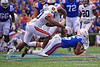 Florida Gators wide receiver Freddie Swain (16) making a diving catch as the Gators defeat the #5 Auburn Tigers 24-13 at Ben Hill Griffin Stadium in Gainesville, Florida on October 5th, 2019 (Photo by David Bowie/Gatorcountry)