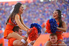 The Florida Gators cheerleaders having fun as the Gators defeat the #5 Auburn Tigers 24-13 at Ben Hill Griffin Stadium in Gainesville, Florida on October 5th, 2019 (Photo by David Bowie/Gatorcountry)