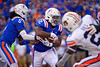 Florida Gators running back Lamical Perine (2) rushing as the Gators defeat the #5 Auburn Tigers 24-13 at Ben Hill Griffin Stadium in Gainesville, Florida on October 5th, 2019 (Photo by David Bowie/Gatorcountry)