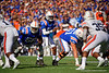 Florida Gators quarterback Emory Jones (5) as the Gators defeat the #5 Auburn Tigers 24-13 at Ben Hill Griffin Stadium in Gainesville, Florida on October 5th, 2019 (Photo by David Bowie/Gatorcountry)