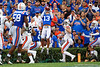 Florida Gators defensive back Donovan Stiner (13) with an interception in the endzone as the Gators defeat the #5 Auburn Tigers 24-13 at Ben Hill Griffin Stadium in Gainesville, Florida on October 5th, 2019 (Photo by David Bowie/Gatorcountry)
