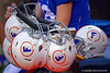 Florida Gators football helmets as the Gators defeat the #5 Auburn Tigers 24-13 at Ben Hill Griffin Stadium in Gainesville, Florida on October 5th, 2019 (Photo by David Bowie/Gatorcountry)