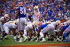 Tennessee Volunteers quarterback Jarrett Guarantano (2) at the line of scrimmage as the Gators defeat SEC East rival the University of Tennessee Volunteers at Ben Hill Griffin Stadium in Gainesville, Florida on September 21st, 2019 (Photo by David Bowie/Gatorcountry)