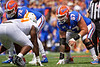 Florida Gators offensive lineman Christopher Bleich (67) as the Gators defeat SEC East rival the University of Tennessee Volunteers at Ben Hill Griffin Stadium in Gainesville, Florida on September 21st, 2019 (Photo by David Bowie/Gatorcountry)