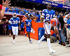 Florida Gators defensive back Trey Dean III (21) and Florida Gators defensive back Amari Burney (30) take the field as the Gators defeat SEC East rival the University of Tennessee Volunteers at Ben Hill Griffin Stadium in Gainesville, Florida on September 21st, 2019 (Photo by David Bowie/Gatorcountry)