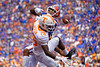 Florida Gators wide receiver Trevon Grimes (8) battles Tennessee Volunteers defensive back Theo Jackson (26) for a ball as the Gators defeat SEC East rival the University of Tennessee Volunteers at Ben Hill Griffin Stadium in Gainesville, Florida on September 21st, 2019 (Photo by David Bowie/Gatorcountry)
