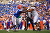 Florida Gators defensive lineman Luke Ancrum (98) battles Tennessee Volunteers offensive lineman Marcus Tatum (68) at ther line of scrimmage as the Gators defeat SEC East rival the University of Tennessee Volunteers at Ben Hill Griffin Stadium in Gainesville, Florida on September 21st, 2019 (Photo by David Bowie/Gatorcountry)