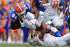 Florida Gators tight end Kyle Pitts (84) as the Gators defeat SEC East rival the University of Tennessee Volunteers at Ben Hill Griffin Stadium in Gainesville, Florida on September 21st, 2019 (Photo by David Bowie/Gatorcountry)