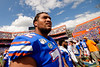 Florida Gators offensive lineman Stone Forsythe (72) as the Gators celebrate defeating SEC East rival the University of Tennessee Volunteers at Ben Hill Griffin Stadium in Gainesville, Florida on September 21st, 2019 (Photo by David Bowie/Gatorcountry)
