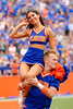 The Florida Gators cheerleaders cheer on as the Gators defeat SEC East rival the University of Tennessee Volunteers at Ben Hill Griffin Stadium in Gainesville, Florida on September 21st, 2019 (Photo by David Bowie/Gatorcountry)